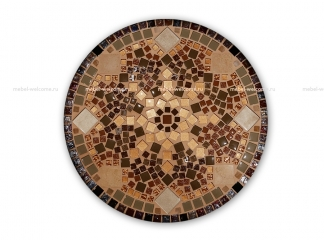Журнальный столик с мозаикой Золотая лихорадка_3 d50