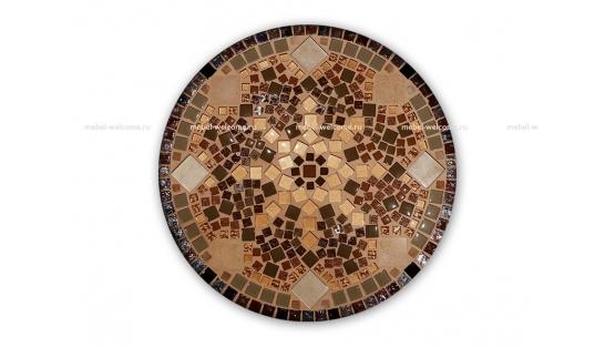 Журнальный столик с мозаикой Золотая лихорадка_3 d50 купить