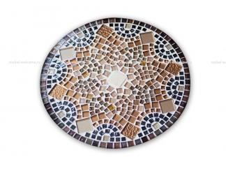 Журнальный столик с мозаикой Золотая лихорадка_9 d50 купить