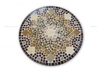 Кованый столик с мозаикой Золотая лихорадка_11 d50 купить
