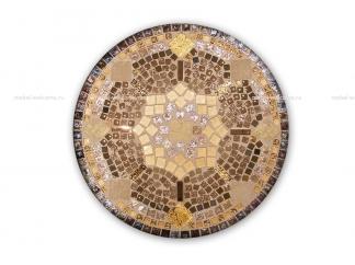 Кованый столик с мозаикой Золотая лихорадка_15 d50 купить