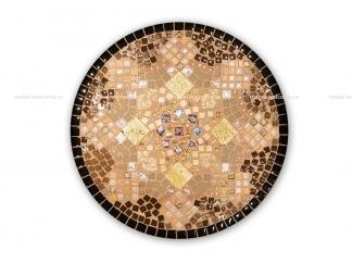 Кованый столик с мозаикой Золотая лихорадка_16 d50 купить