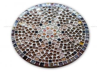 Круглая столешница мозаика Эрика_11 d40