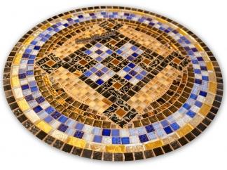 Стол с мозаичной столешницей Пикассо_6 D70см купить
