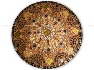 Стол с мозаичной столешницей Золотая лихорадка_1 D70см
