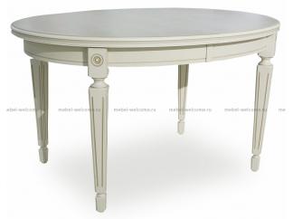 Стол большой овальный  Алвен (130/100) ДКП фолк патина