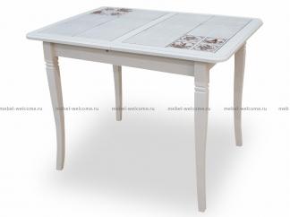 Стол с плиткой Севилья 2 100/70, Молочный Мельница