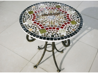 Мозаичный стол Золотая лихорадка_25 d50