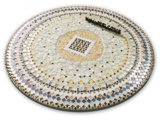 Стол обеденный с мозаикой Каприз_11 d50