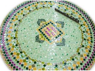 Стол обеденный с мозаикой Каприз_10 d50