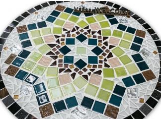 Стол круглый мозаичный Эрика_38 d40