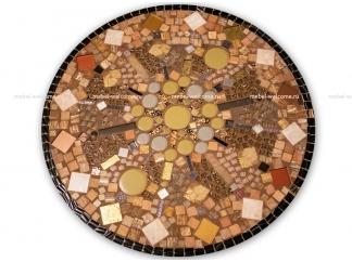 Стол с мозаичной столешницей Пикассо_9 D70см купить