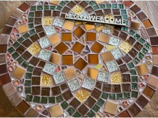 Стол круглый мозаичный Эрика_42 d40