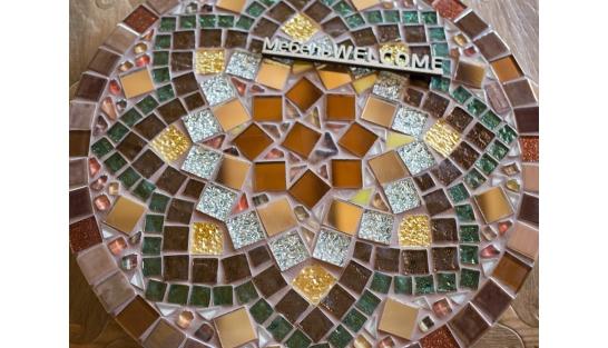 Стол круглый мозаичный Эрика_42 d40 купить