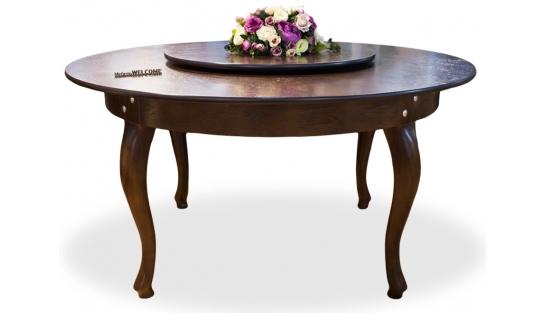 Большой круглый стол с крутящимся центром