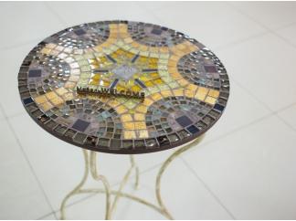 Столик с мозаикой  Венский кофе_17 d50