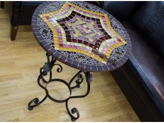 Стол с мозаикой Пикассо_2К D60см
