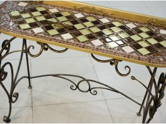 Консольный стол с мозаикой