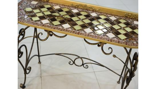 Стол с мозаикой Консоль 1_42*110см купить