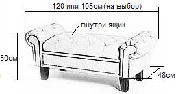Размеры банкетки Белла